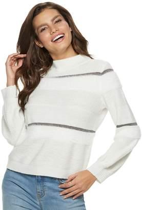 JLO by Jennifer Lopez Women's Balloon-Sleeve Mockneck Sweater