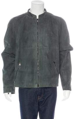 Armani Collezioni Suede Zip-Up Jacket