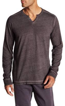 Velvet by Graham & Spencer Split Neck Jersey Tee