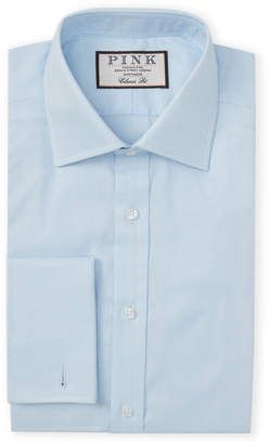 Thomas Pink Pale Blue French Cuff Classic Fit Dress Shirt