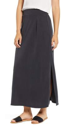 Everleigh Cupro Side Slit Maxi Skirt