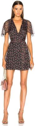 ALEXACHUNG Mini Wrap Dress