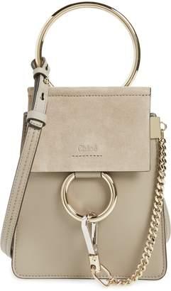 Chloé Faye Small Suede & Leather Bracelet Bag