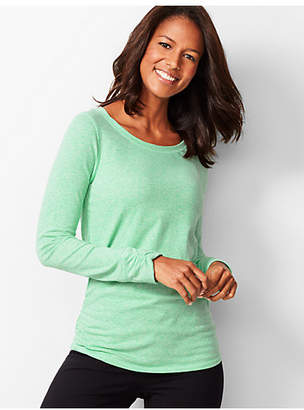 Talbots Ruched Jacquard Tee