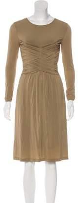 Burberry Midi Long Sleeve Dress