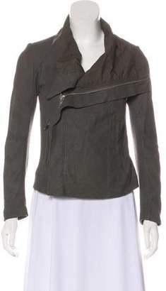 Rick Owens Leather Zip Jacket
