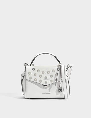 62a5f84c0e688 MICHAEL Michael Kors Bristol Small Top Handle Satchel Bag in Optic White  Pebble Leather