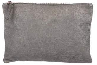 Clare Vivier Grained Leather Zip Pouch