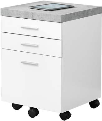 Monarch Three-Drawer Cement-Look Filing Cabinet