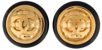Chanel Large CC Clip-On Earrings