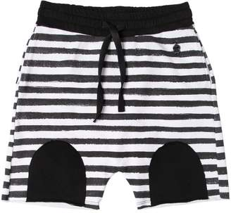 Fred Mello Striped Cotton Sweat Shorts