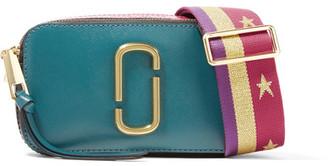 Marc Jacobs - Snapshot Color-block Textured-leather Shoulder Bag - Teal $295 thestylecure.com