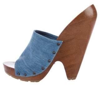Stella McCartney Denim Slide Sandals
