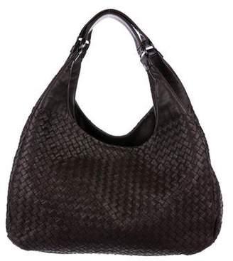 Bottega Veneta Leather Intercciato Hobo Bag
