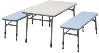 Cosco Kids Adjustable Height 3pc Table & Bench Set, Multiple Colors