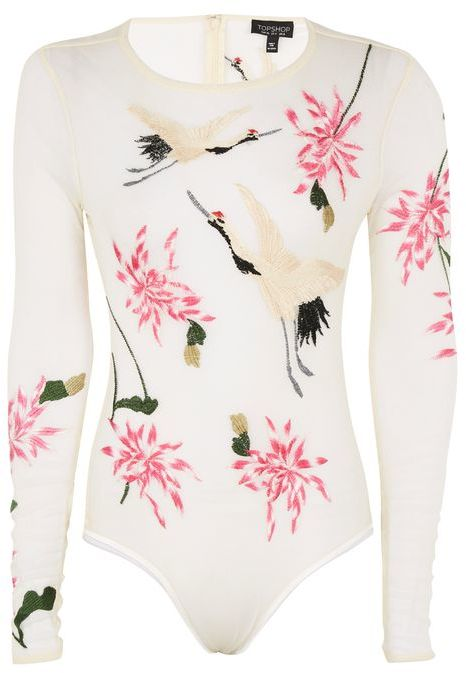 TopshopTopshop Bird embroidered body