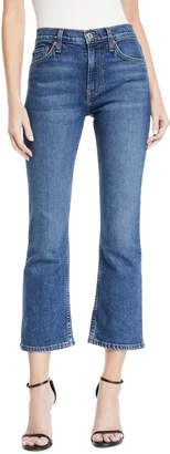 RE/DONE Mid-Rise Cropped Kick Flare Stretch-Denim Jeans
