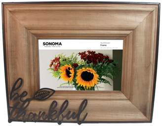 "Sonoma Goods For Life SONOMA Goods for Life ""Be Thankful"" 4"" x 6"" Frame"