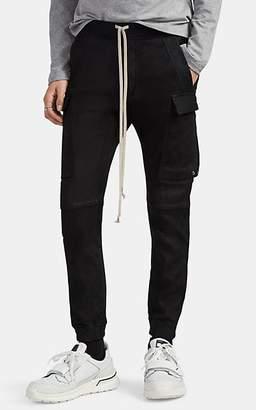 Rick Owens Men's Bonded Leather Jogger Pants - Black