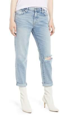 Current\u002FElliott The Fling Ripped Boyfriend Jeans (2 Year Destroy Rigid Indigo)