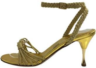 Emma Hope Gold Leather Sandals
