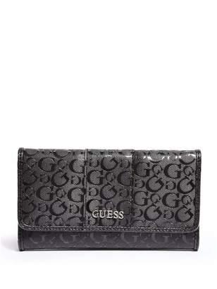 Factory GUESS Women's Ware Patent Logo Slim Wallet