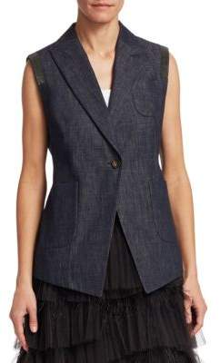 Brunello Cucinelli Cotton Denim Vest