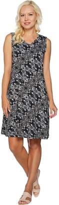 Denim & Co. Printed Sleeveless V-Neck Dress