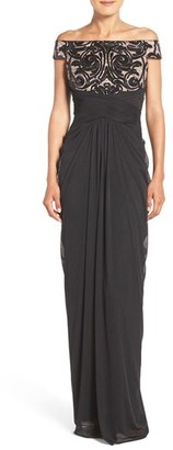 Women's Adrianna Papell Sequin Lace & Tulle Gown $219 thestylecure.com