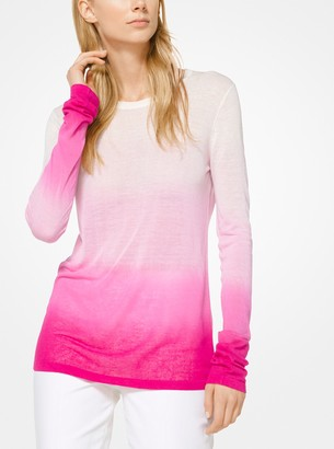 Michael Kors Ombre Viscose and Linen Sweater