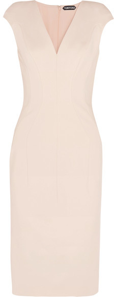 TOM FORD - Stretch-crepe Dress - Pastel pink