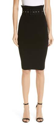 Milly Belted High Waist Pencil Skirt