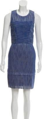 Balenciaga Patterned Sleeveless Dress Patterned Sleeveless Dress