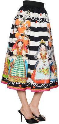 Printed Striped Organza Midi Skirt $2,195 thestylecure.com