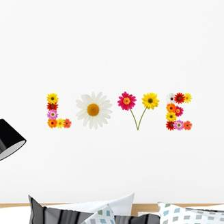 Wallmonkeys LLC Word Love Composed Fresh Wall Decal Sticker by Wallmonkeys Vinyl Peel and Stick Graphic (24 in W x 6 in H)