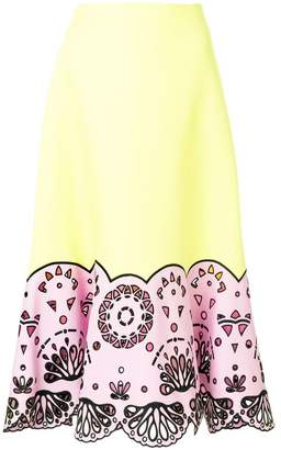 Emilio Pucci cut-out hem midi skirt