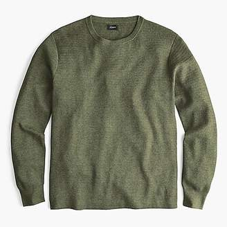 J.Crew Cotton thermal knit crew neck sweater