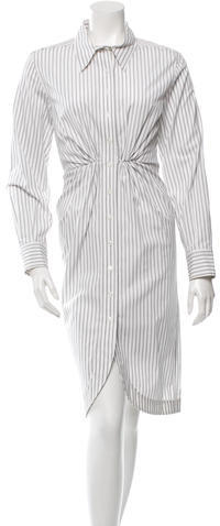 Saint LaurentYves Saint Laurent Long Sleeve Striped Shirtdress w/ Tags