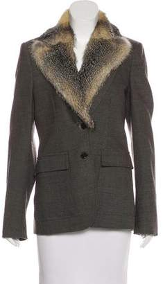 Gucci Wool Fur-Trimmed Blazer