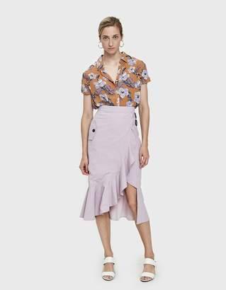 Mora Gingham Ruffle Skirt
