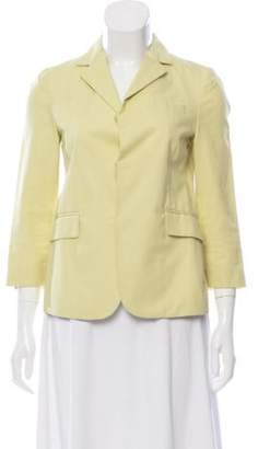 Marni Notch-Lapel Knit Blazer Yellow Notch-Lapel Knit Blazer