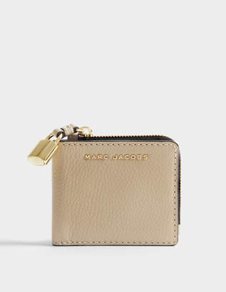Marc Jacobs The Grind Snap Wallet in Light Slate Cow Leather