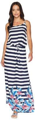 Tommy Bahama Palms Paradise Off the Shoulder Maxi Dress Cover-Up Women's Swimwear