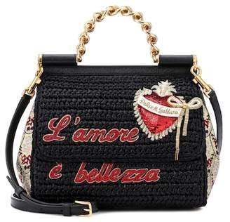 Dolce & Gabbana Sicily Medium raffia shoulder bag