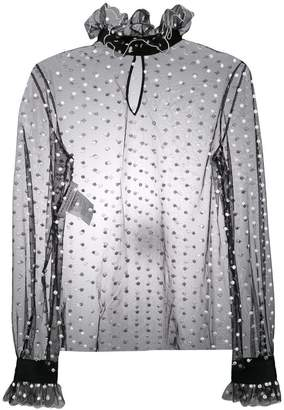 Philosophy di Lorenzo Serafini polka dot sheer blouse