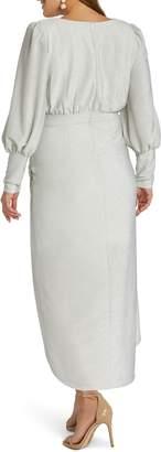 ELOQUII Sparkle Tulip Hem Evening Dress