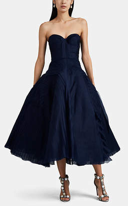 J. Mendel Women's Tulle & Tiered Gauze Cocktail Dress - Navy