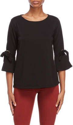 Femme By Tresics Self-Tie Quarter Sleeve Tee