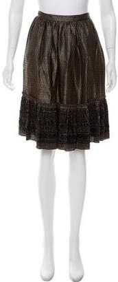 Derek Lam Damask Embellished Skirt