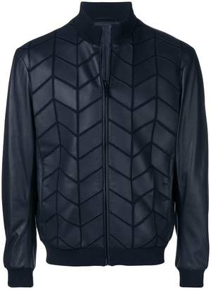 Giorgio Armani patterned bomber jacket